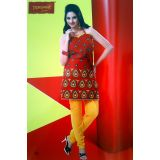 Dhanwanti Unstitched Designer Suit 012ry Redish Maroon And Yellow Gold