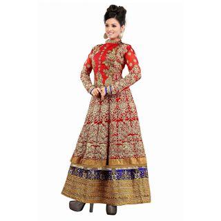 Wonderful Red Semi Stitched Party Wear Salwar Kameez EBSFSK09109B