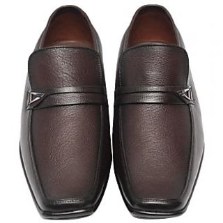 Comfort Leather Shoes For Men's (Brown) Option-2
