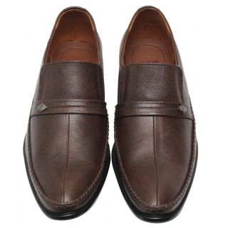 Comfort Leather Shoes For Men's (Brown) Option-3