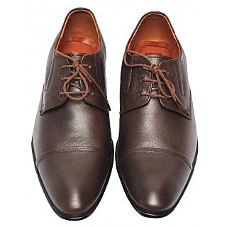 Comfort Leather Shoes For Men's (Brown) Option-4