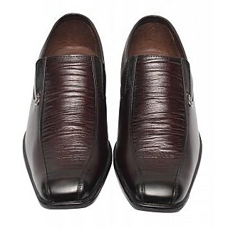 Comfort Leather Shoes For Men's (Brown) Option-5