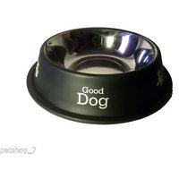Stainless Steel Stylish Dog Food Bowl - BLACK 600 ML
