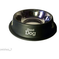 Stainless Steel Stylish Dog Food Bowl - BLACK 920 ML