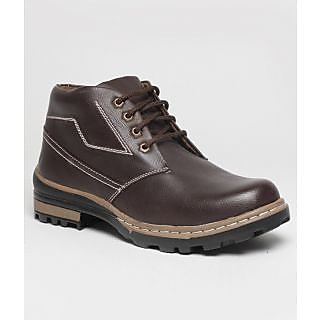 Real Red B001 Brown Ankle Length Boots