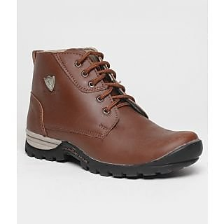 Real Red B004 Brown Ankle Length Boots