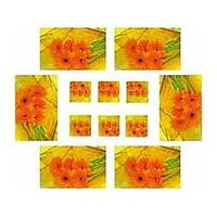 Dinning Table Mats With Coasters ( Set Of 6)