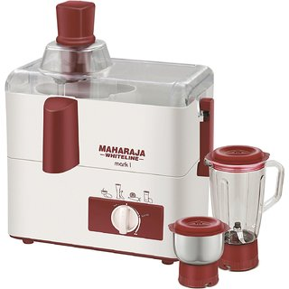 Maharaja Whiteline Mark-1(JX-100) 450 W 2 Jar Juicer Mixer Grinder