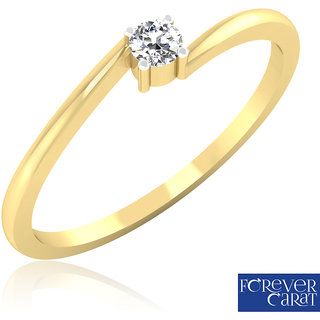 Solo Star Diamond Ring In 14K Gold From Forevercarat