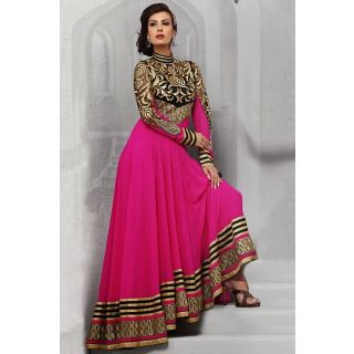 Dashing Diva Pink Semi Stitched  Wedding Wear Salwar Kameez EBSFSK14202D