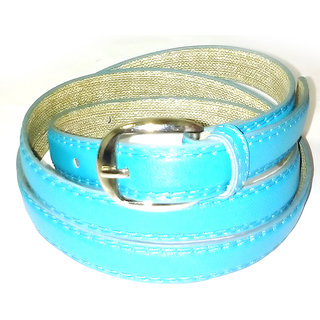 Women light blue belt