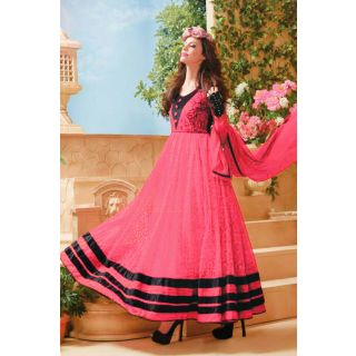 Gorgeous Pink Semi Stitched  Party Wear Salwar Kameez EBSFSK14206D