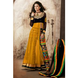 Amazing Yellow Semi Stitched  Party Wear Salwar Kameez EBSFSK14207C
