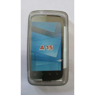 Karbonn A15 A 15 Mobile Soft Silicone Jelly Battery Back Cover Case Grey Color available at ShopClues for Rs.125