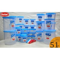 CHETAN 51 PC SET,KITCHEN MIXED STORAGE CONTAINERS @ RS.2340/- ONLY