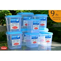 CHETAN 9 PC SET, PLASTIC KITCHEN STORAGE CONTAINERS AIRTIGHT.PCHTN.NO.004