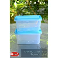 CHETAN 6 PC SET. STORAGE CONTAINER. 600 M.L IDEALLY FOR FRIDGE.PCHTN.NO.015
