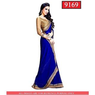 Bhavdatt Blue saree