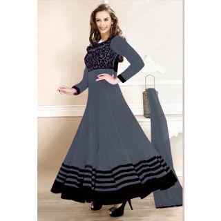 Dashing Diva Grey Semi Stitched  Party Wear Salwar Kameez EBSFSK14212D