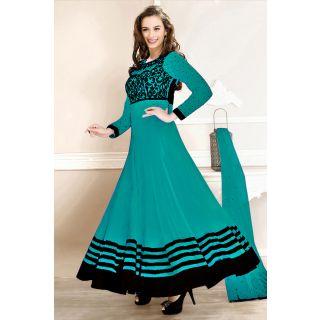 Wonderful Blue Semi Stitched  Party Wear Salwar Kameez EBSFSK14212E