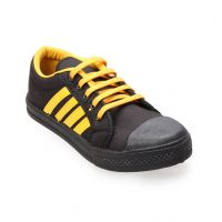 Bindal Black Shoes 77 Black Yellow