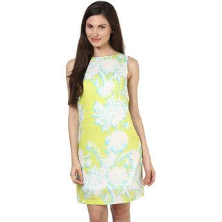 Harpa Women'S Dress Green Crepe Sleeveless Mini Dress