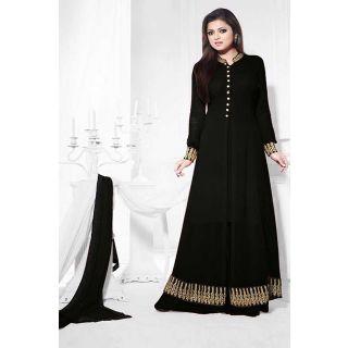 Gorgeous Black Semi Stitched  Designer Wear Salwar Kameez EBSFSK14216C