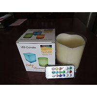 LED Wax Candle With Remote Multi-Color Changing (Set Of 2)