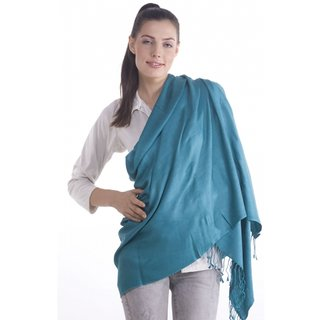 Fashion Blue Viscose Stole For Women