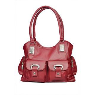 Sms Maroon Hand Bag