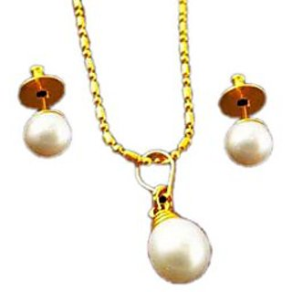 Hyderabadi Pearl Chain Set available at ShopClues for Rs.333