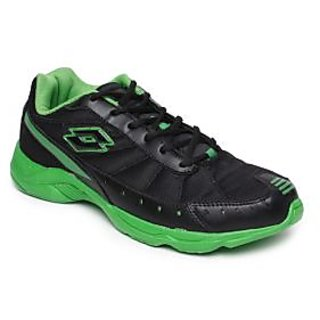Get Flat 80% Off on Lotto Black & Green Sports Shoes from Shopclues