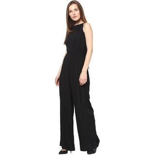 Harpa Stylish Women Black Jumpsuit