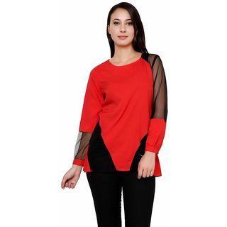 Rumara  Sizzling Red Top For Women