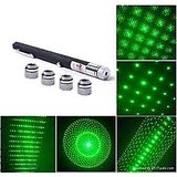 5 In 1 5MW 532nm 5 Patterns Head Green Laser Pointer Laser Pen With 5 Star Cap