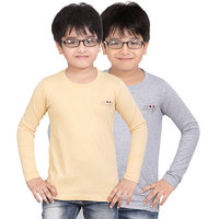 DONGLI BOYS MARVELLOUS FULL SLEEVE T-SHIRT (PACK OF 2)DLF450_BEIGE_WM