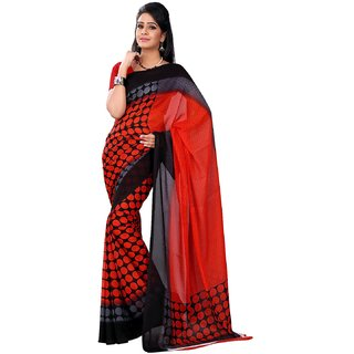 Florence Multicolor Faux Georgette Printed Saree (FL-10531)