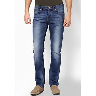 denim jeans in blue colour