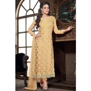 Glorius Yellow Semi Stitched Party Wear Salwar Kameez EBSFSK15501G