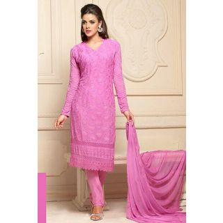 Wonderful Pink Semi Stitched Party Wear Salwar Kameez EBSFSK15503F