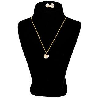 Golden coloured heart  shape pendant