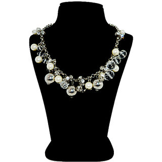 Sliver and Pearl Necklace