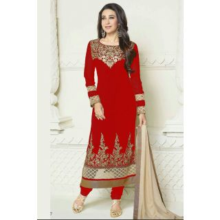 Dashing Red Semi Stitched Party Wear Salwar Kameez EBSFSK15505B