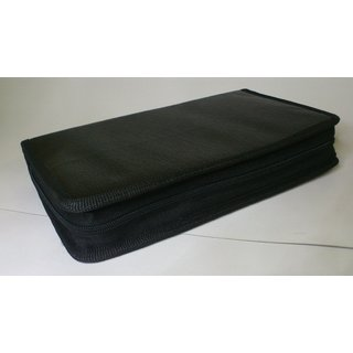 Premium Quality Leather Look Cover/Case/Folder / Pouch for 80 CD CDs / DVD DVDs