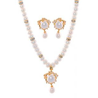 Hyderabadi Abhushan Single Line Pankhudi Pearl Necklace SWPND28
