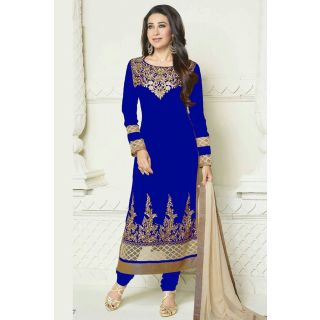 Dashing Diva Blue Semi Stitched Party Wear Salwar Kameez EBSFSK15505C