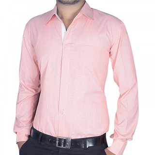 Red with white lines Formal Shirt