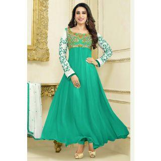 Wonderful Green Semi Stitched Party Wear Salwar Kameez EBSFSK15506E