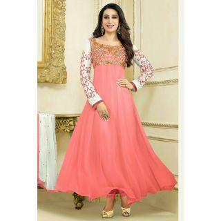 Gorgeous Peach Semi Stitched Party Wear Salwar Kameez EBSFSK15506F