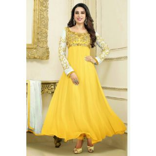 Marvelous Yellow Semi Stitched Party Wear Salwar Kameez EBSFSK15506G